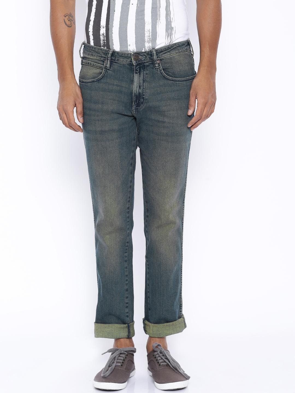 Wrangler Dark Blue Low Rise Millard Regular Fit Jeans