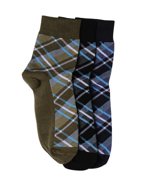18a45172e76 Buy HARVARD Men Set Of 3 Checked Ankle Length Crew Socks - Socks for ...