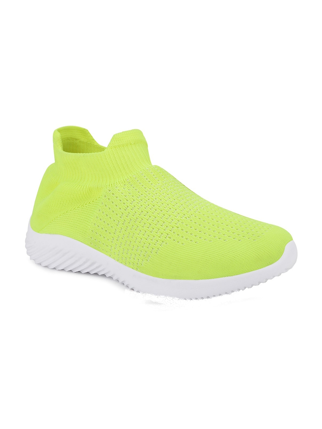 FAST TRAX Men Fluorescent Green Woven Design Oxfords Casual Shoes