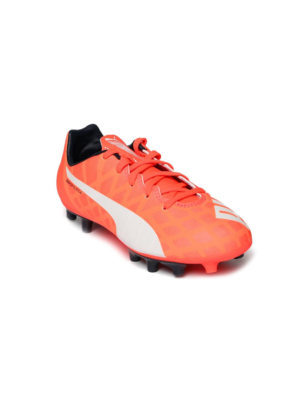 Buy PUMA Kids Neon Orange EvoSPEED 5.4 FG Football Shoes - Sports ... 3791846db