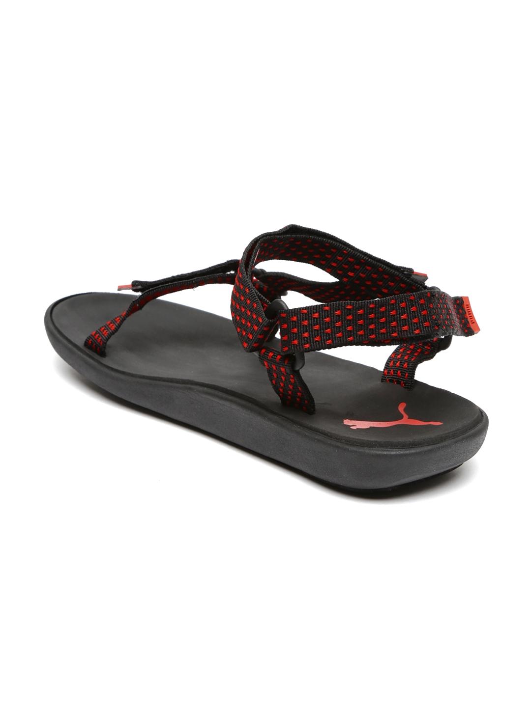b5d246ef6e87 Buy PUMA Unisex Red   Black Plato DP Sports Sandals - Sports Sandals for  Unisex 1408278