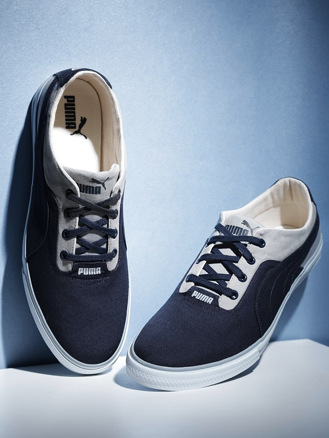 fresh styles luxuriant in design moderate cost PUMA Unisex Navy & Grey Slyde IDP Sneakers