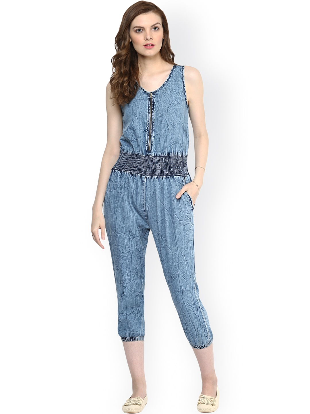 cb768ce3db Buy StyleStone Blue Denim Jumpsuit - Jumpsuit for Women 1410667