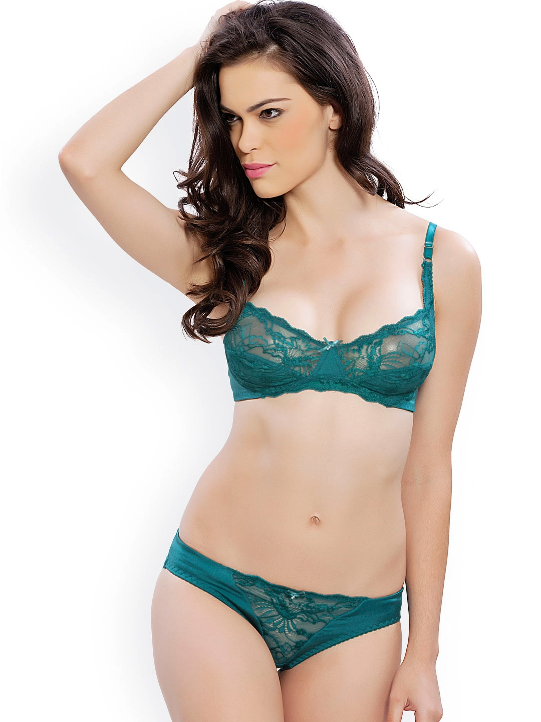 69aeac7394 Buy Lady Love Green Lace Lingerie Set LLSET4028 - Lingerie Set for ...