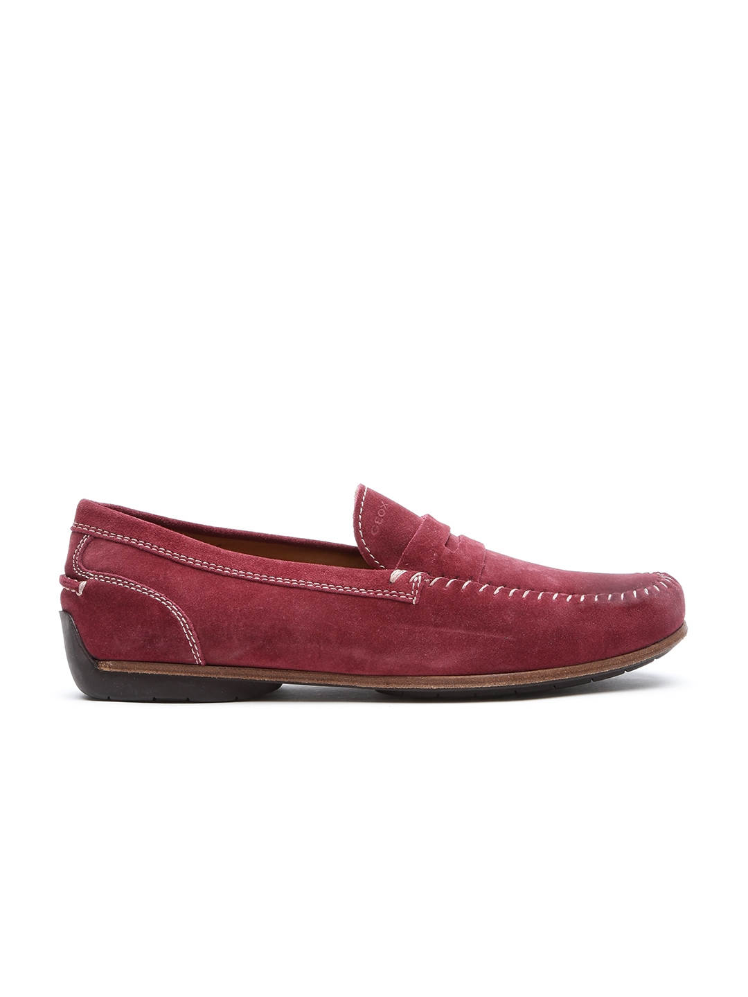 3c3b282867c13 Buy GEOX Breathes Men Burgundy Breathable Italian Patent Leather Loafers -  Casual Shoes for Men 1412512 | Myntra