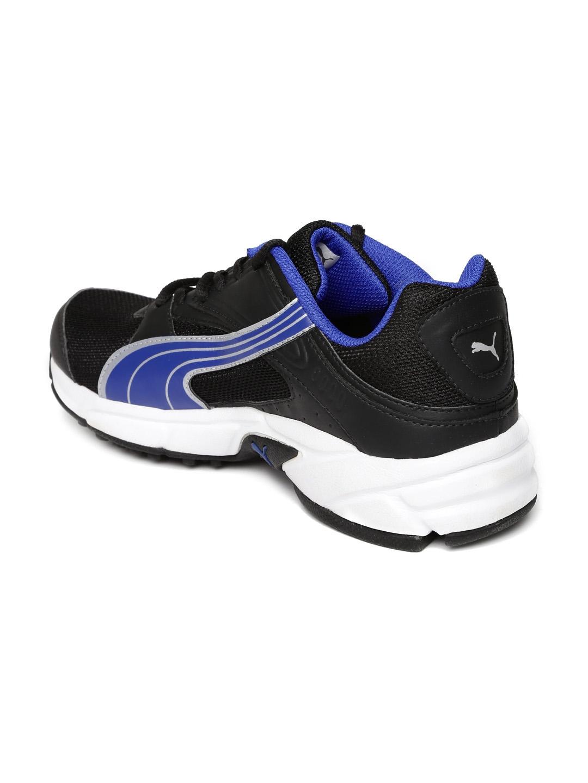 69545eb9c3d5 ... low priced d479c 210ae Puma Men Black Blue Volt. II Ind. Running Shoes  ...