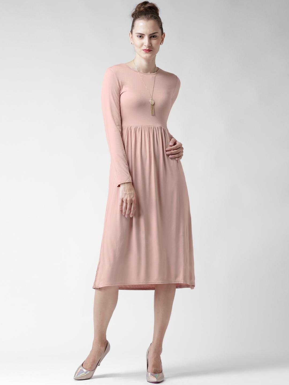 02b4672498bd4 Buy Boohoo Pink Fit & Flare Midi Dress - Dresses for Women 1415150 ...
