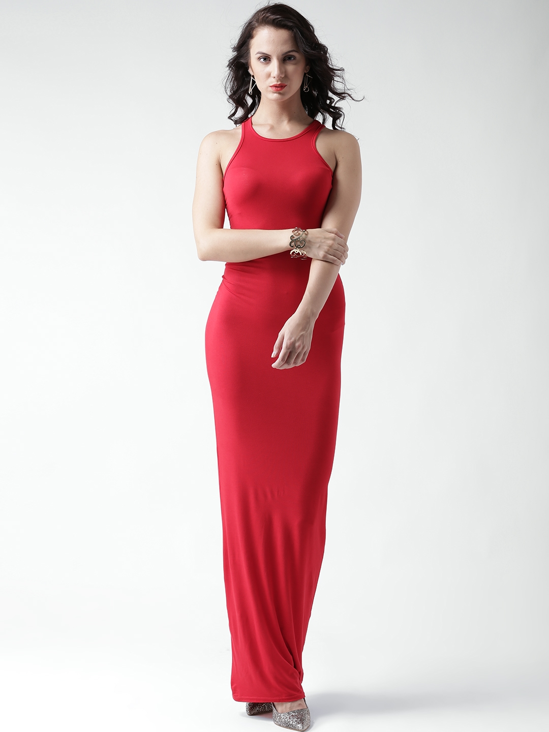 244946db4c90a Buy Boohoo Red Maxi Dress - Dresses for Women 1415211 | Myntra