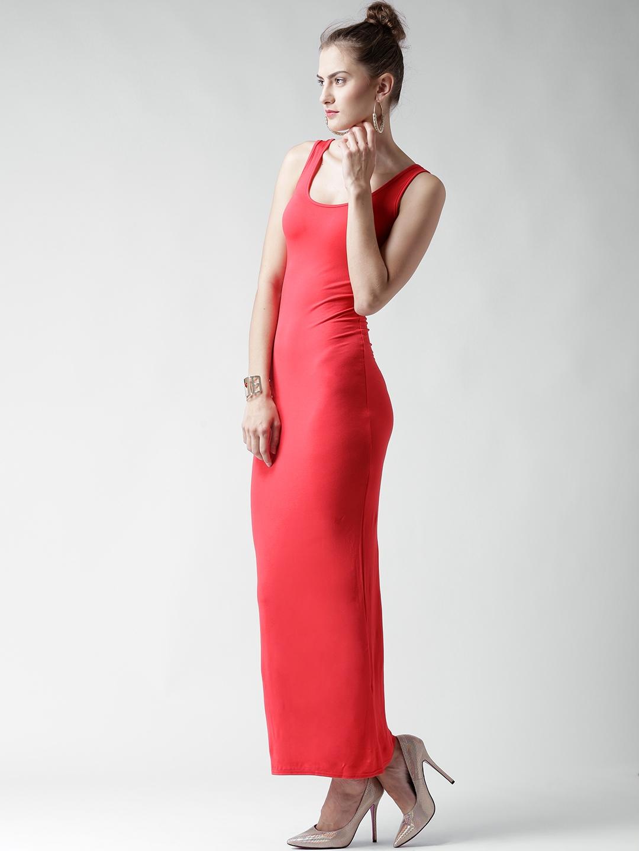 600da207e632 Buy Boohoo Red Bodycon Maxi Dress - Dresses for Women 1415219   Myntra