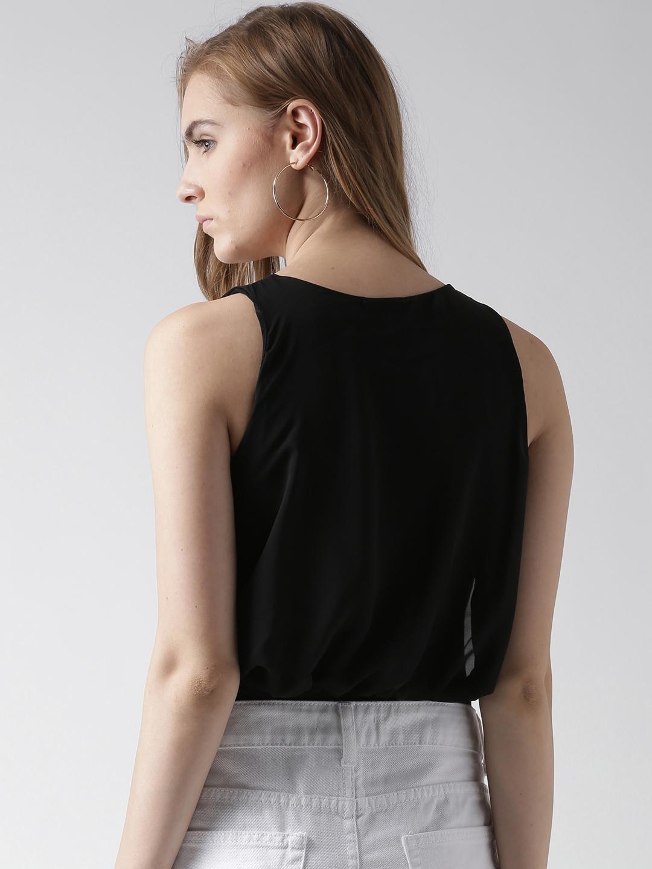 fc9607c6f4e9 Buy Boohoo Black Blouson Bodysuit - Bodysuit for Women 1415256 | Myntra