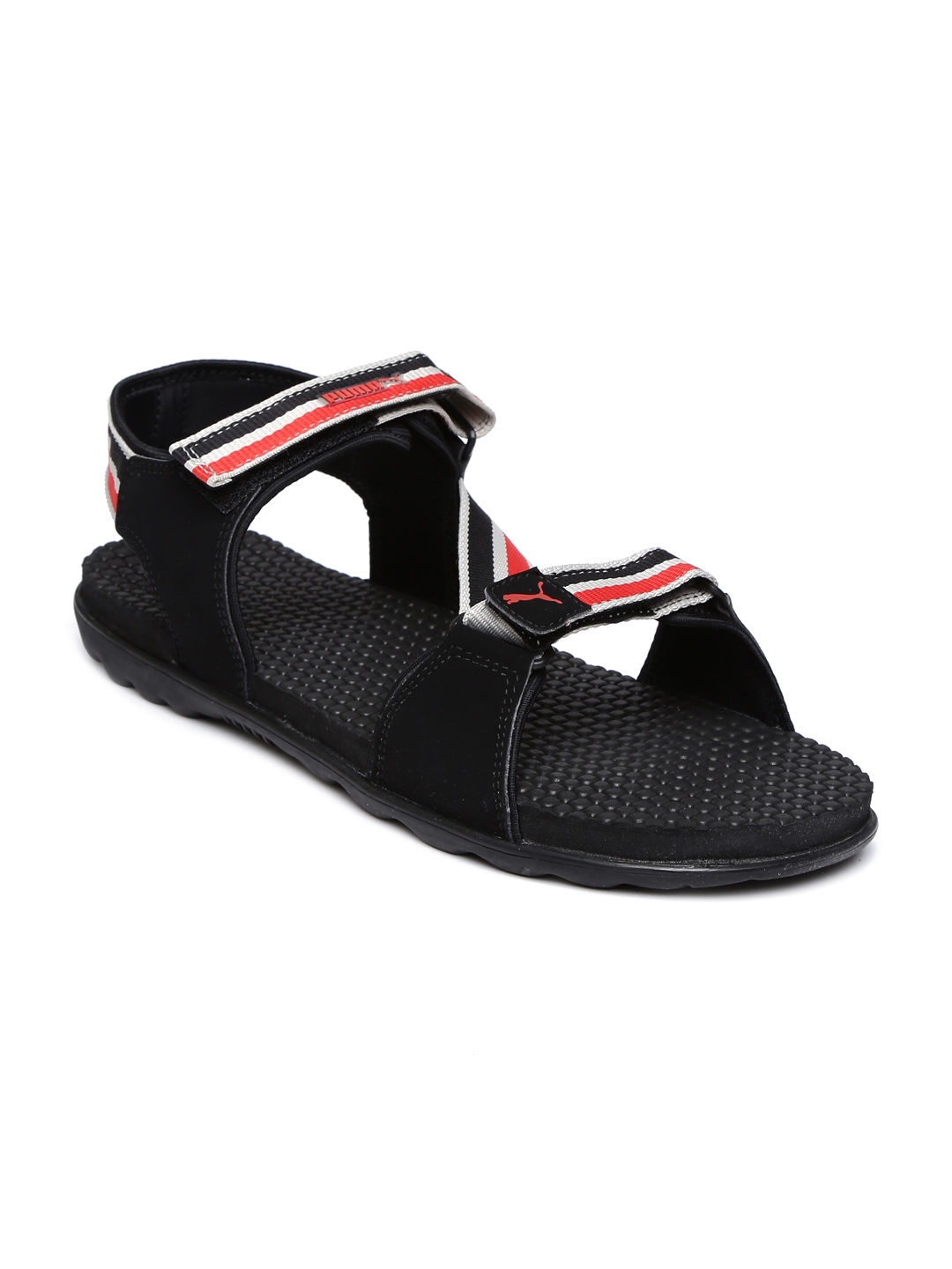 5abea567b09b4e Buy Puma Men Black   Red Striped Silicis Mesh IDP Sports Sandals - Sandals  for Men 1415459