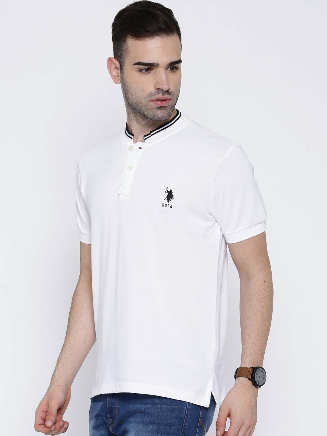 Buy U S Polo Assn White T Shirt Tshirts For Men 1417327 Myntra