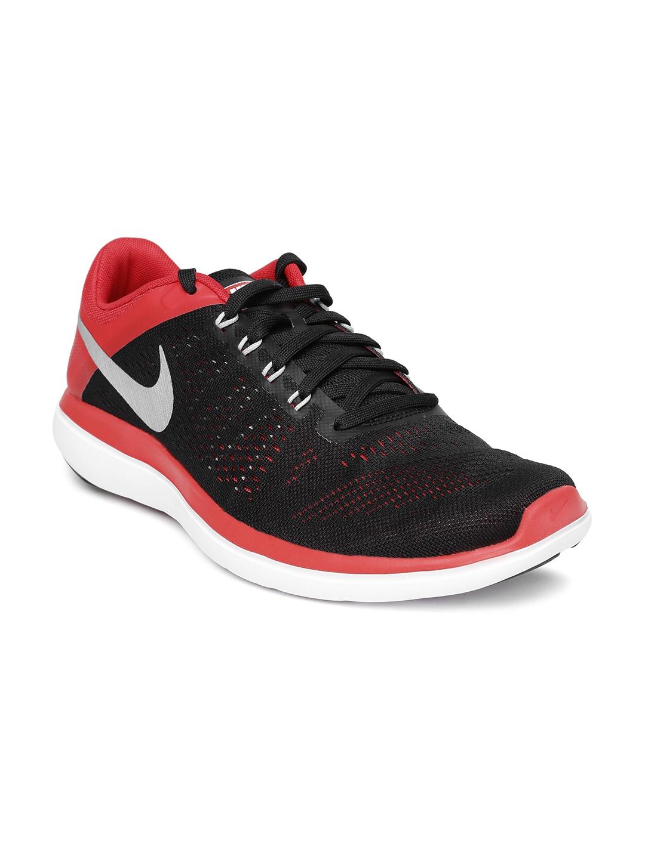 Black \u0026 Red Flex 2016 RN Running Shoes