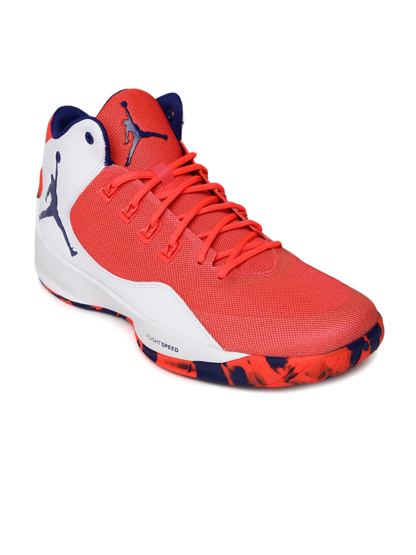 new product e99c7 d304e Buy Nike Men Neon Pink   White Jordan Rising High 2 Basketball Shoes -  Sports Shoes for Men 1421017   Myntra