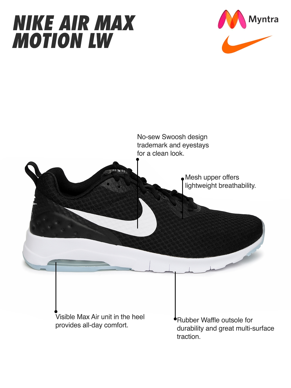 535d395043006 Buy Nike Men Black Air Max Motion LW Sneakers - Casual Shoes for Men  1421261