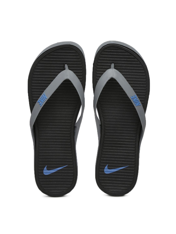 online retailer 09b0d 3ef65 Nike Men Grey & Black Matira Flip-Flops