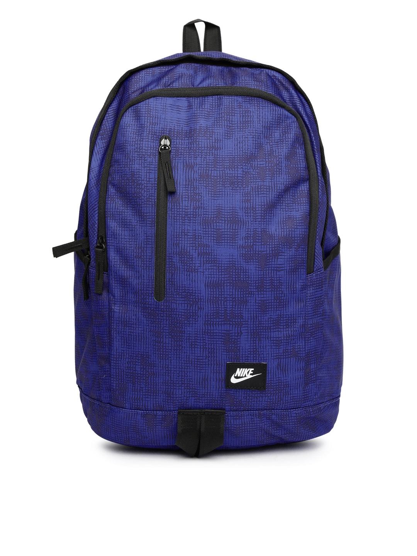 fd7f34798840b Buy Nike Men Blue   Black All Access Soleday Printed Backpack - Backpacks  for Men 1421505