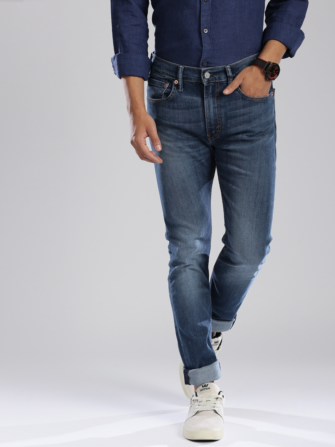 8b382e3ed4b Buy Levi's Blue 519 Extreme Skinny Fit Stretchable Jeans - Jeans for Men  1424082 | Myntra