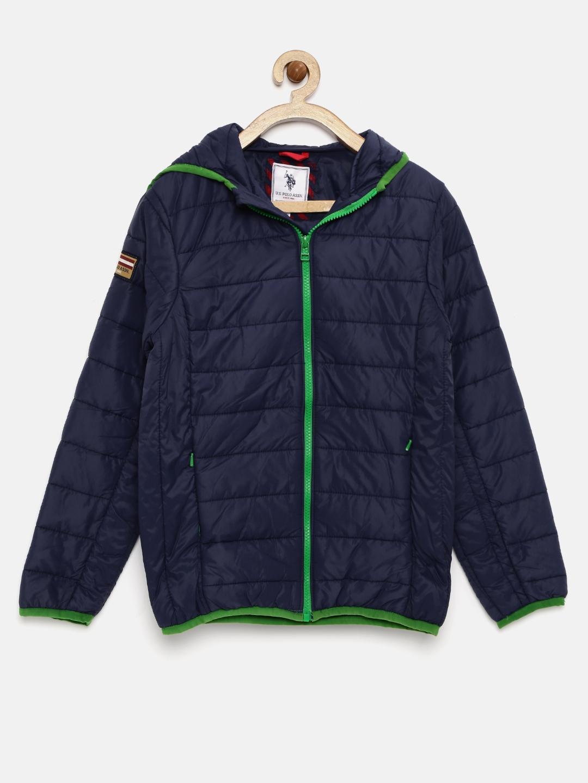 1be8f3f78c0d Buy U.S. Polo Assn. Kids Boys Navy Hooded Jacket - Jackets for Boys ...