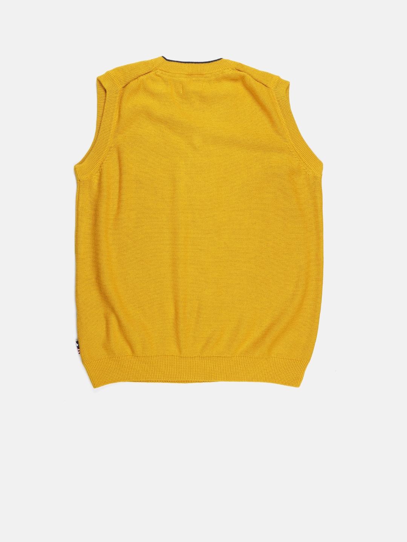 b7d219bd2172 Buy U.S. Polo Assn. Kids Boys Yellow Sleeveless Sweater - Sweaters ...