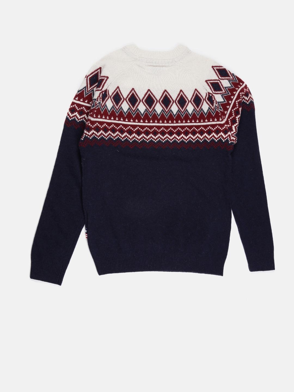 a9672047fd0c Buy U.S. Polo Assn. Kids Boys Navy Self Design Sweater - Sweaters ...
