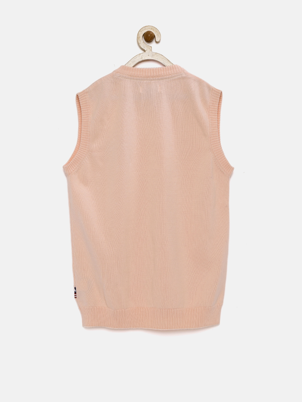 98e5fda86875 Buy U.S. Polo Assn. Kids Boys Pink Sleeveless Sweater - Sweaters for ...