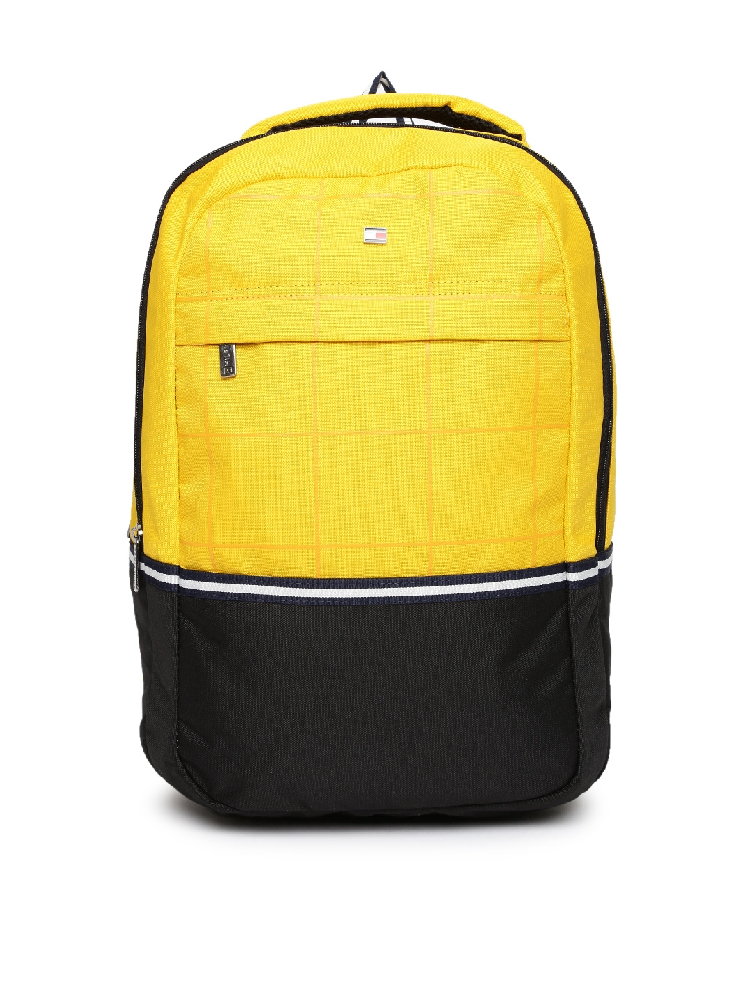 a9b3ef0b2ce Buy Tommy Hilfiger Unisex Yellow & Black Colourblocked Backpack ...