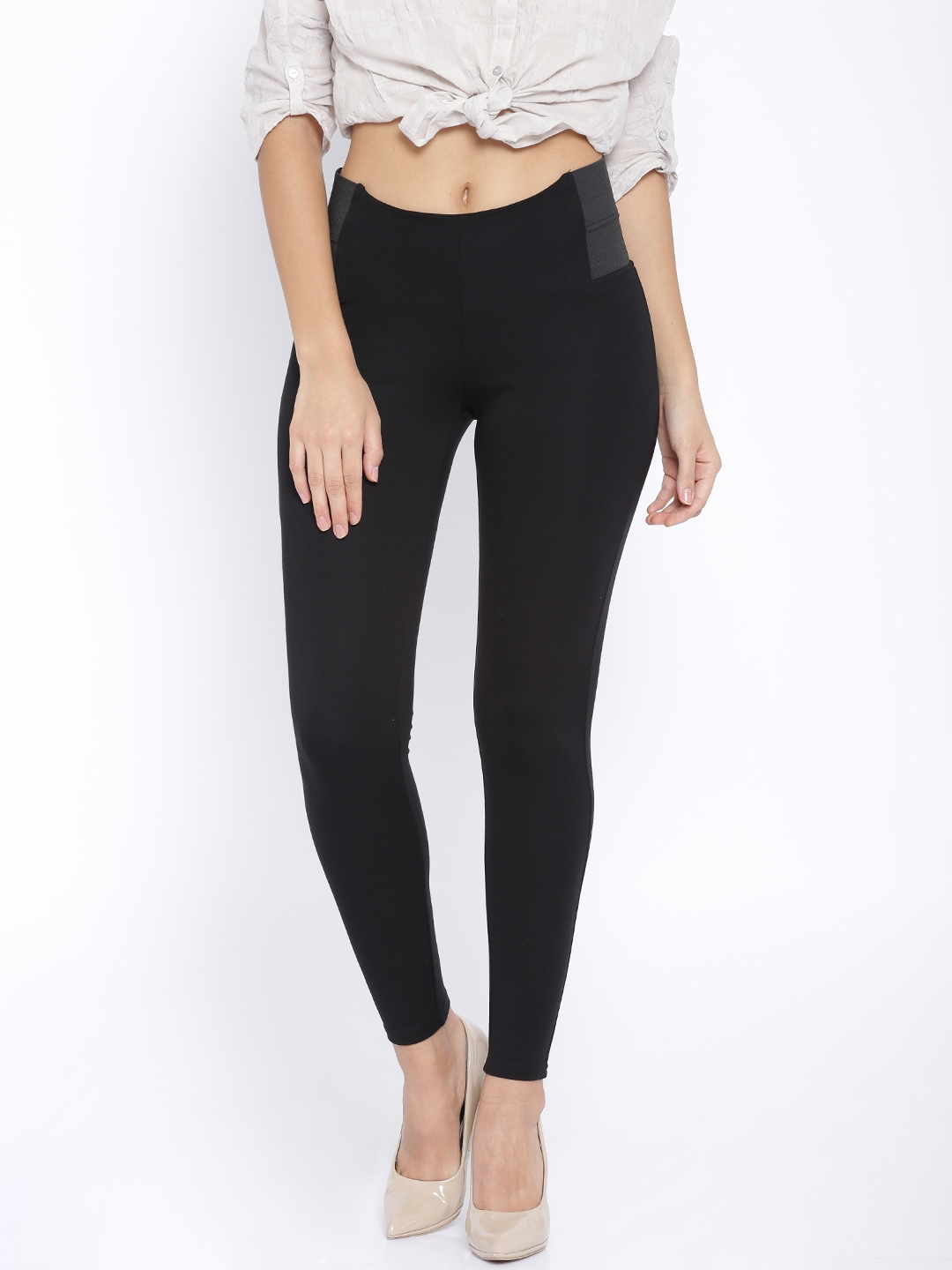 fdeb389286a3c7 Buy ONLY Black Jeggings - Jeggings for Women 1430777 | Myntra
