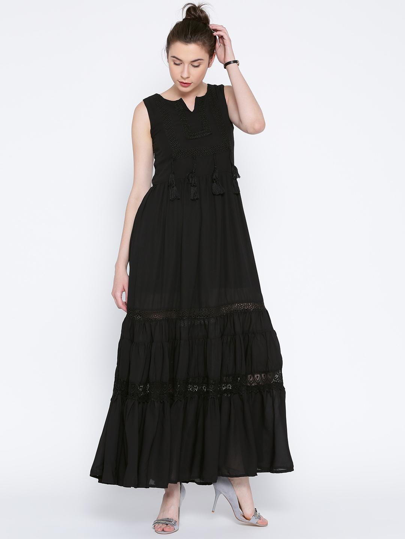 d7579bba9 Buy Tokyo Talkies Black Polyester Maxi Dress - Dresses for Women 1432359