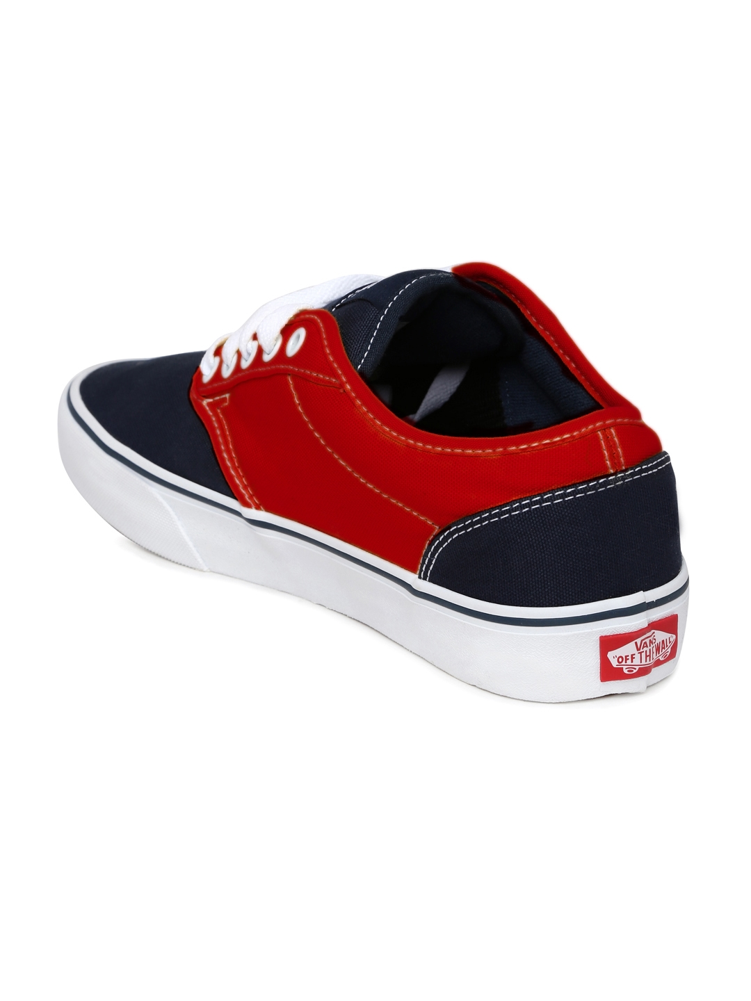 6b69479e7130f3 Buy Vans Men Black   Red Colourblocked Sneakers - Casual Shoes for ...