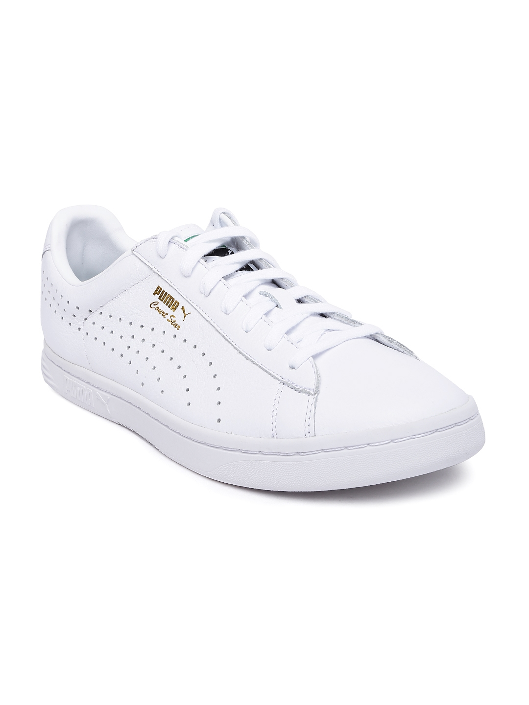 Buy PUMA Men White Leather Court Star NM Sneakers - Casual Shoes for ... 3fbcd58d1