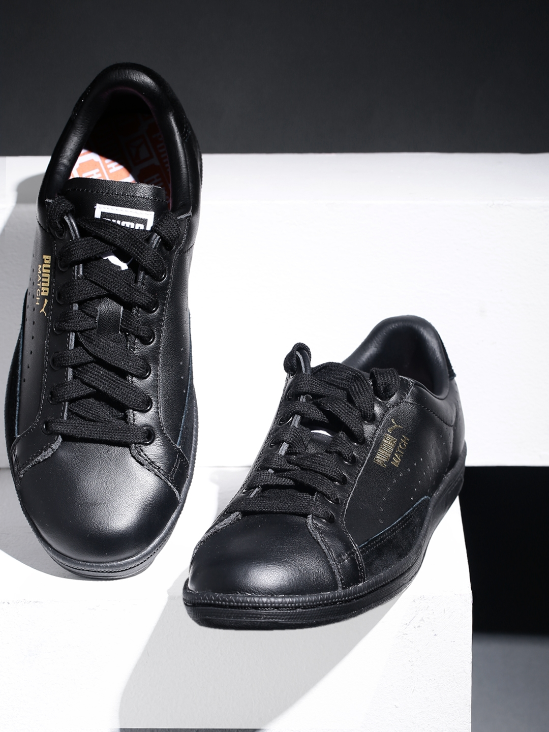 38f377ac2260 Buy PUMA Men Black Match 74 UPC Leather Sneakers - Casual Shoes for ...
