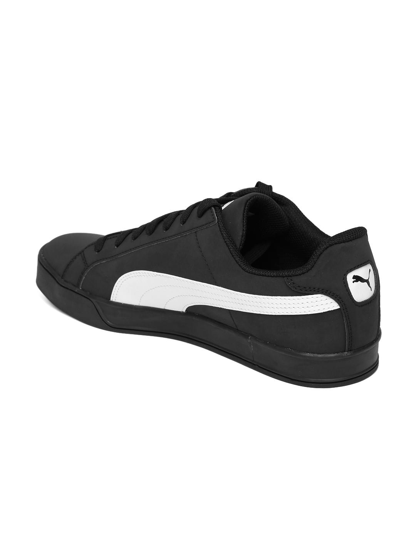 d9267197090d Buy PUMA Men Black Smash Vulc Sneakers - Casual Shoes for Men ...