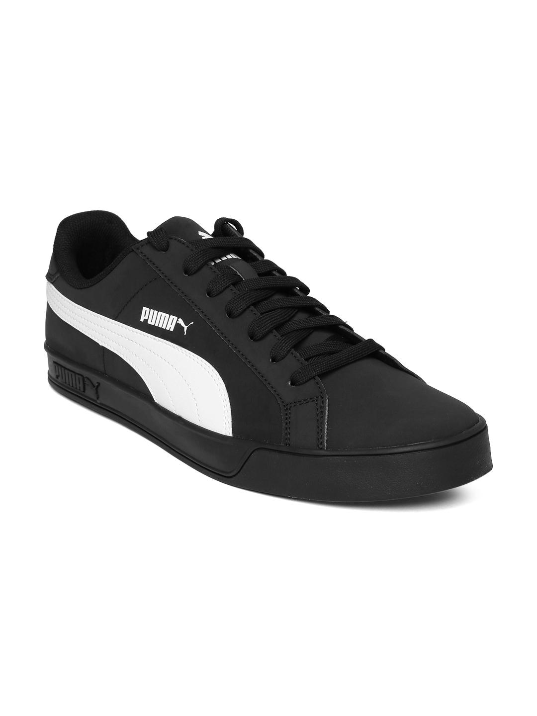 2c6c7e7be3c2 Buy PUMA Men Black Smash Vulc Sneakers - Casual Shoes for Men 1434729