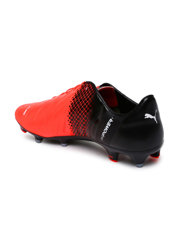 3f6ec16f4b4d Buy PUMA Men Neon Orange & Black EvoPower 1.3 FG Printed Football ...