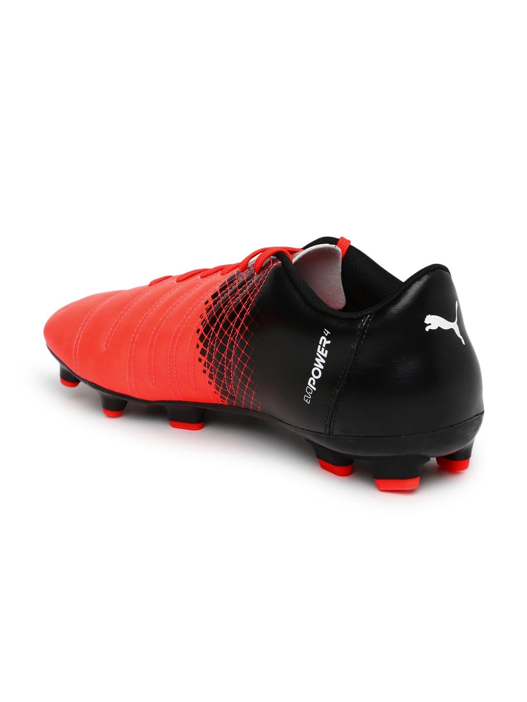 4bfc27ae806c Buy PUMA Men Neon Orange   Black EvoPower 4.3 FG Printed Football ...