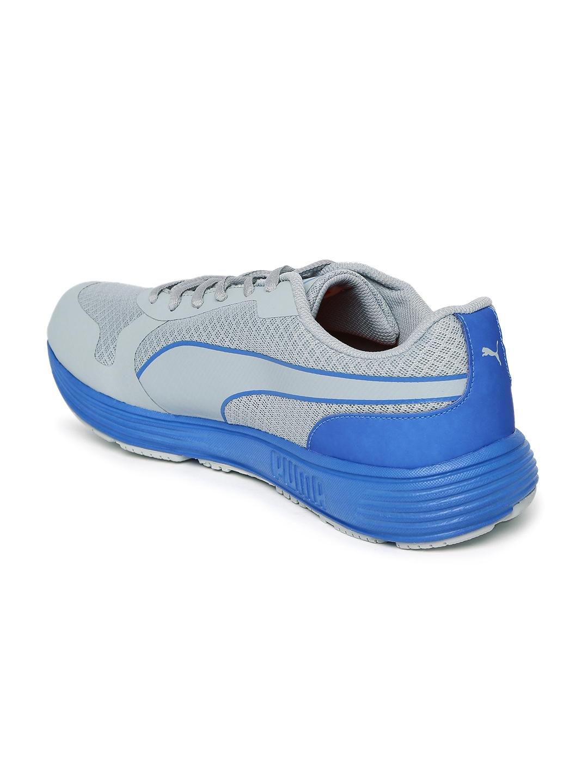 70c071e23b79ae Buy PUMA Men Grey   Blue Future Runner II DP Running Shoes - Sports Shoes  for Men 1434931
