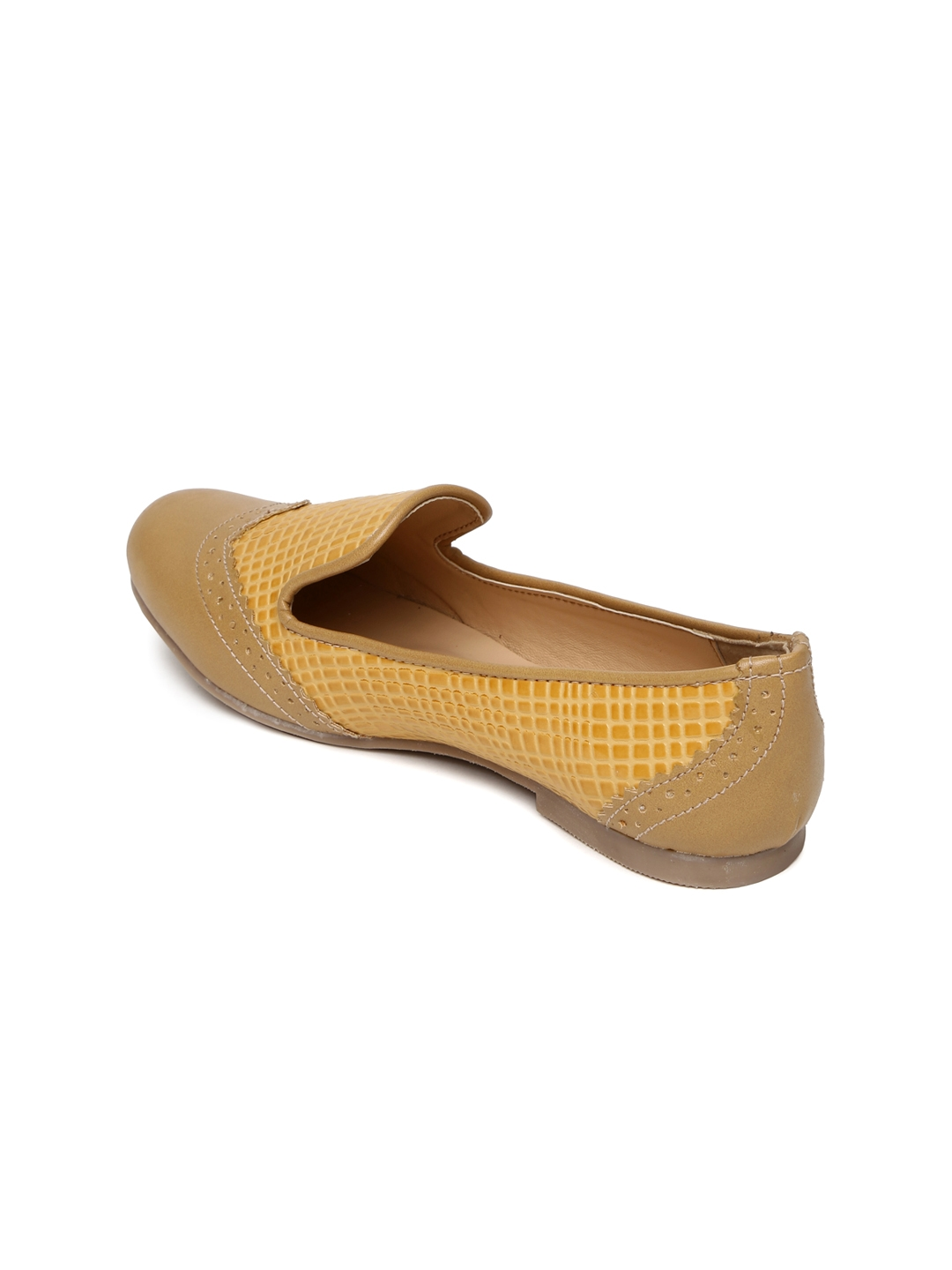 2e925f5ad Buy Lavie Women Mustard Yellow Textured Flat Shoes - Flats for Women ...