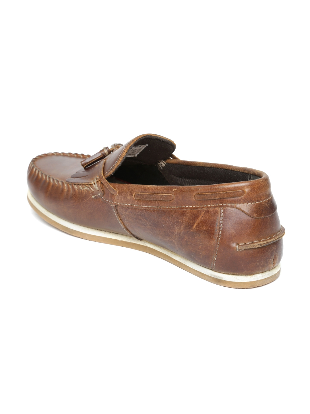 b563b5ae63 Buy Red Tape Men Brown Leather Tassel Loafers - Casual Shoes for Men ...