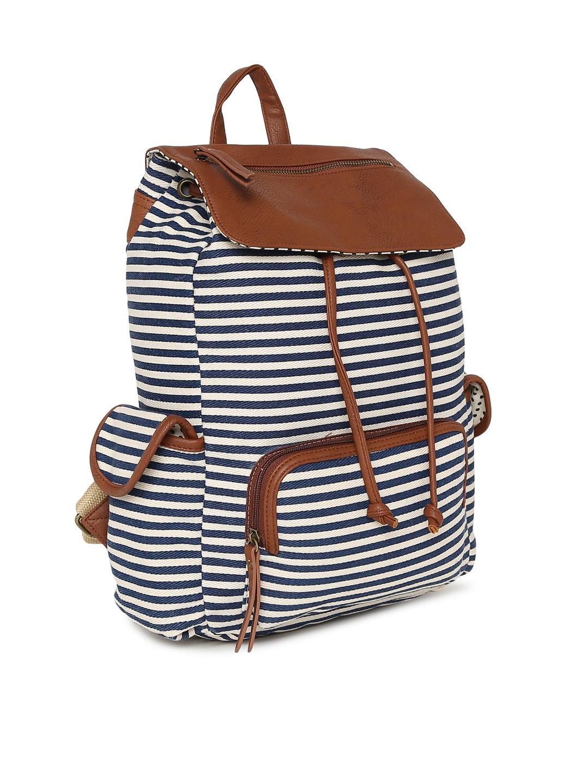 0bd2167abb Buy Steve Madden Women White & Blue Striped Backpack - Backpacks for ...