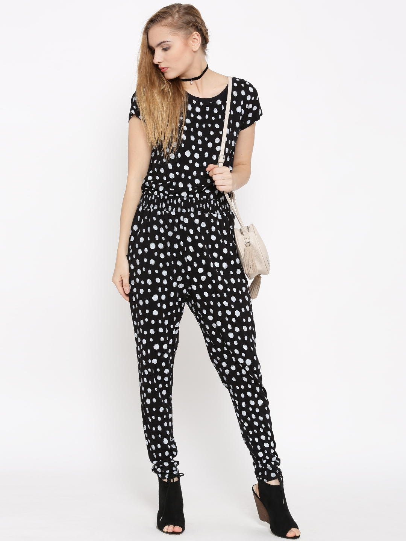 cc67967fda11 Buy Dressberry Black   White Abstract Print Jumpsuit - Jumpsuit for ...