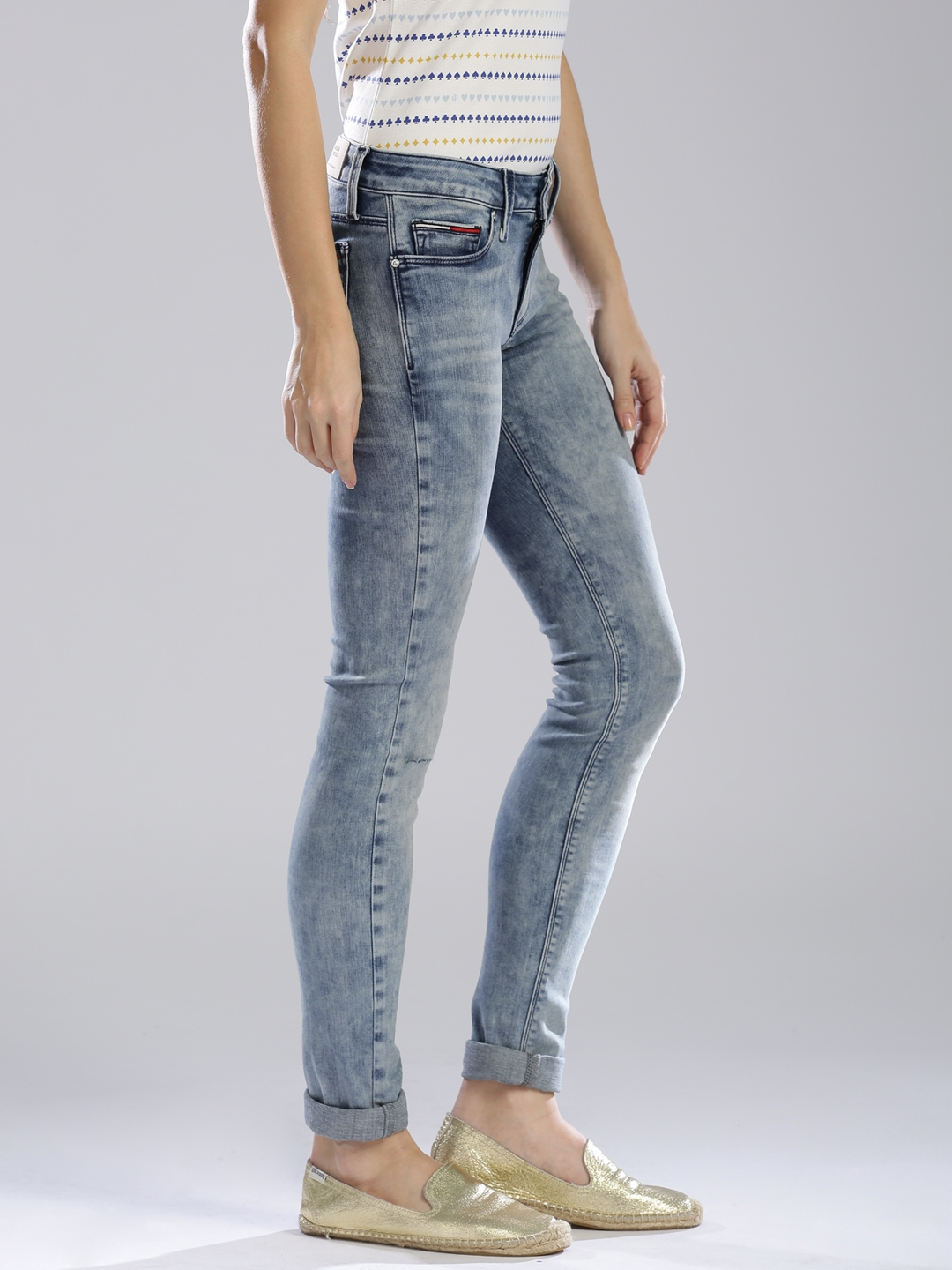 18fa0c8e Buy Tommy Hilfiger Blue Nora Skinny Fit Jeans - Jeans for Women ...