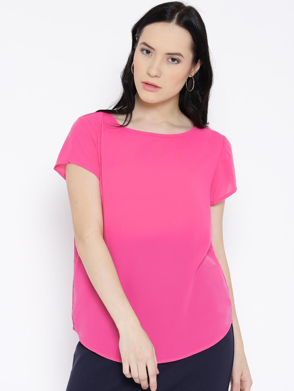 United Colors of Benetton Women Pink Solid Regular Top