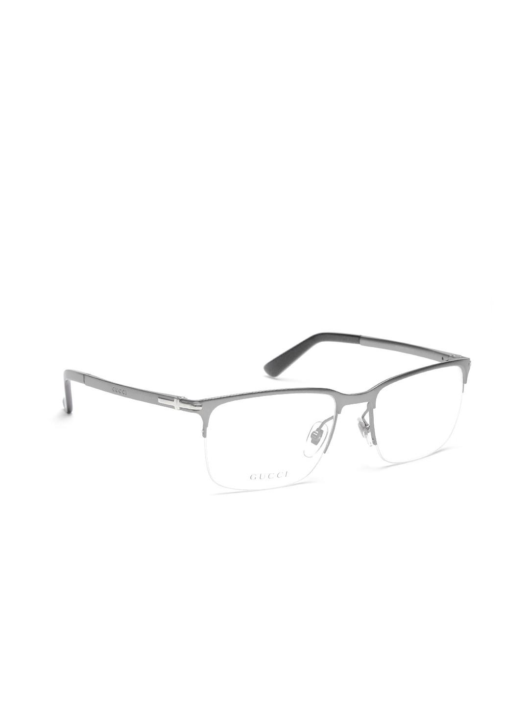 63f85374612 Buy Gucci Unisex Gunmetal Toned Half Rim Rectangular Frames GG 2265 ...