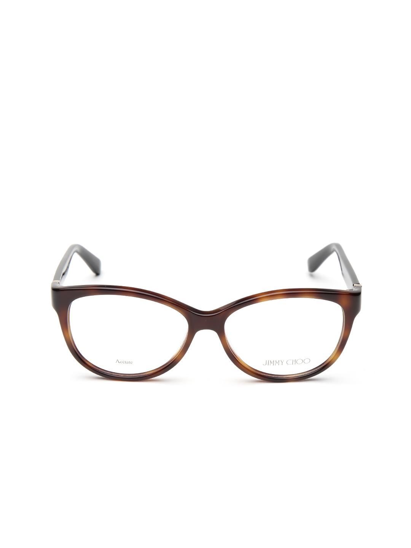 5cd22da856e9 Buy Jimmy Choo Women Brown Oval Frames JC127 112 - Frames for Women ...