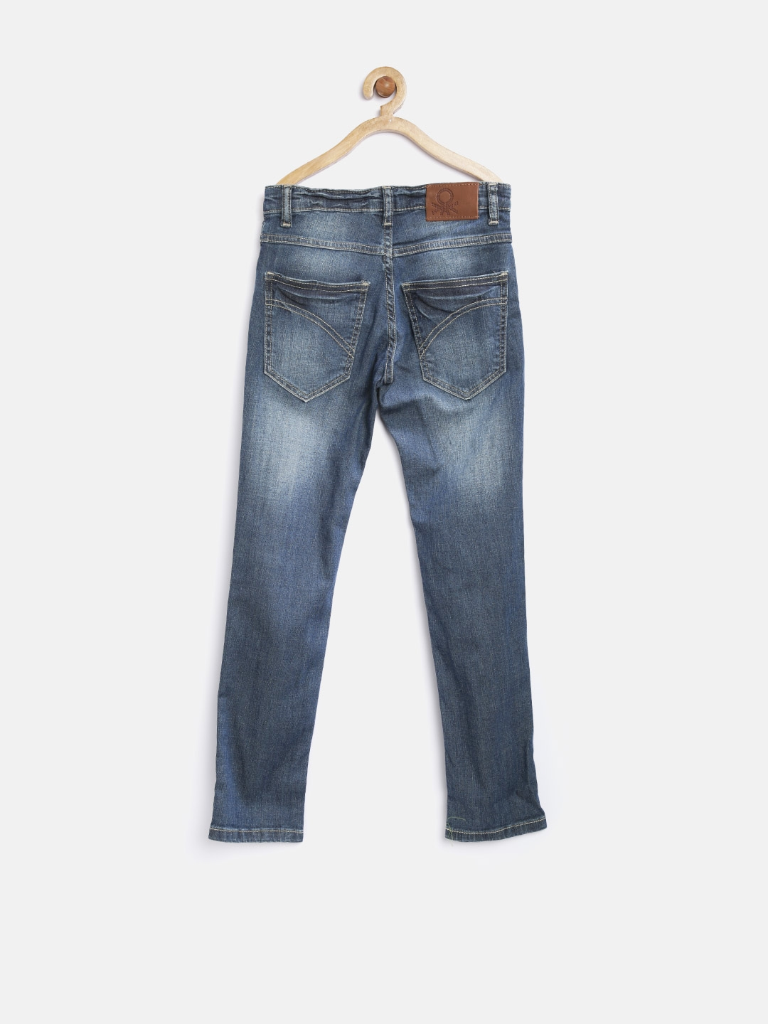 f09126d87ea9 Buy United Colors Of Benetton Boys Blue Washed Skinny Fit Jeans ...