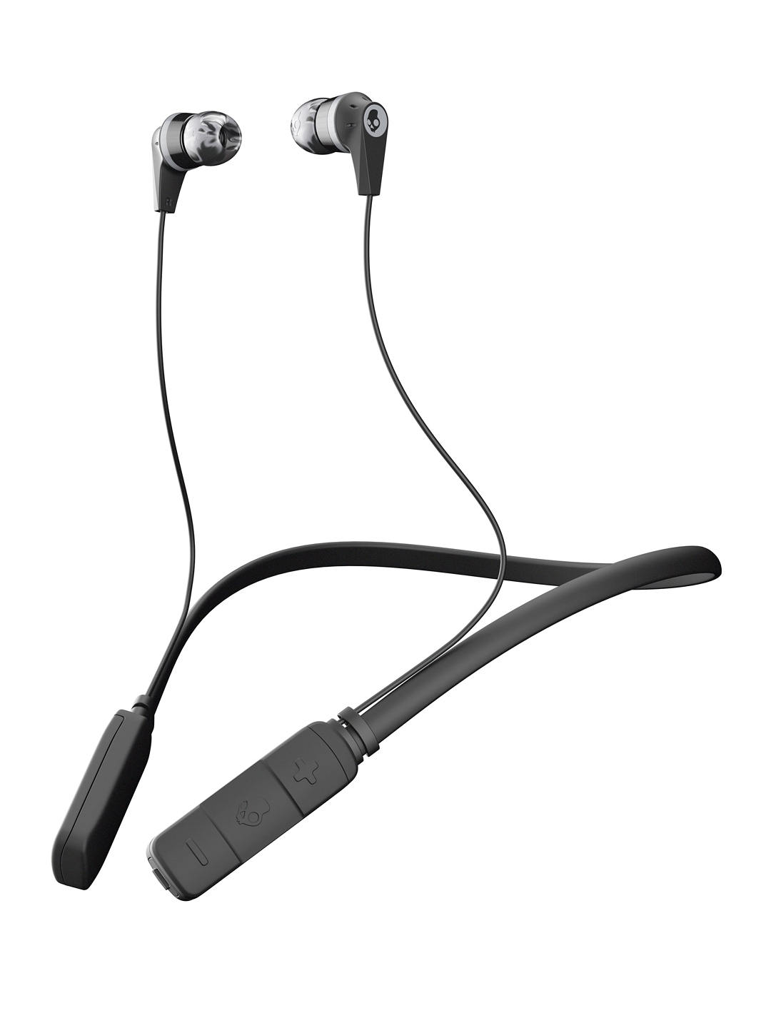 Skullcandy Black Ink'd Wireless Earbuds with Bluetooth   Mic
