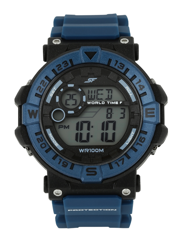 Sonata Ocean Series Men Blue Digital Watch 77061PP03