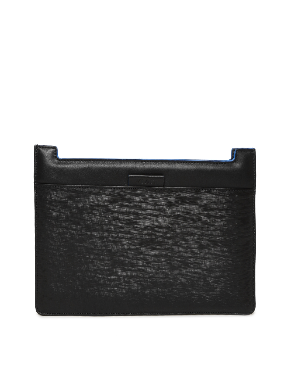 VIARI Unisex Black Leather iPad Sleeve VIARI Tablet Sleeve