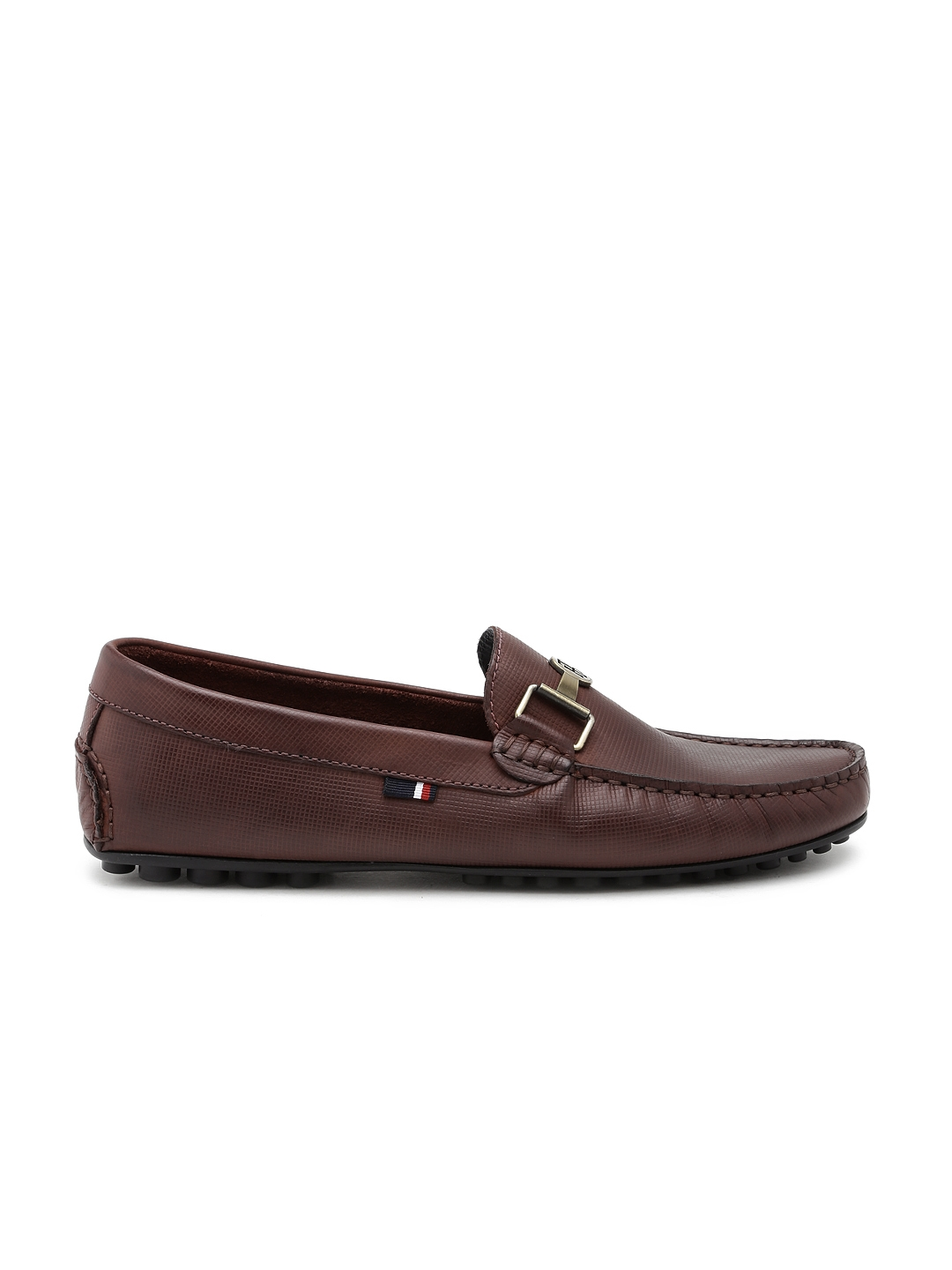 67ed794640a5 Tommy Hilfiger Men Brown Leather Loafers. This product is already at its best  price